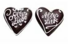 Schokoladenherz mini ,9 x 10 cm , 20 Stück,auch mit Wunschtext - Bild vergrößern