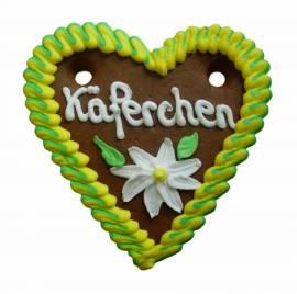 Lebkuchenherzen Spruch exklusiv, 20-fach sortiert 13 x 14 cm  im Karton, Lieferant - Bild vergrößern