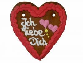 Wiesn Lebkuchenherzen 13 x 14 cm Liebes Herz, Ich liebe Dich, Catering - Bild vergrößern