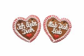 Lebkuchenherzen  Spruch Ich liebe Dich im Karton - Bild vergrößern