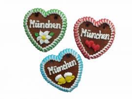 60 Lebkuchenherzen 10 cm im Karton Spruch München - Bild vergrößern