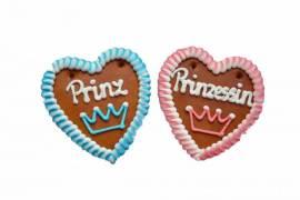 Wiesn Lebkuchenherzen Spruch Prinzessin ,Prinz 13 x 14 cm  ,Kirmes,Volksfest - Bild vergrößern