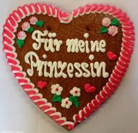 Lebkuchenherz Für meine Prinzessin - Bild vergrößern