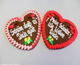 Lebkuchenherzen Sprüche Liebe, Gastro,Catering - Bild vergrößern