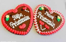 Lebkuchenherzen Sprüche Prinzessin ,Feier, Event - Bild vergrößern