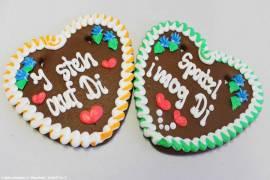Lebkuchenherzen Sprüche bayrisch, Gastro,Catering - Bild vergrößern