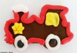 Lebkuchen Lokomotive groß  - Bild vergrößern