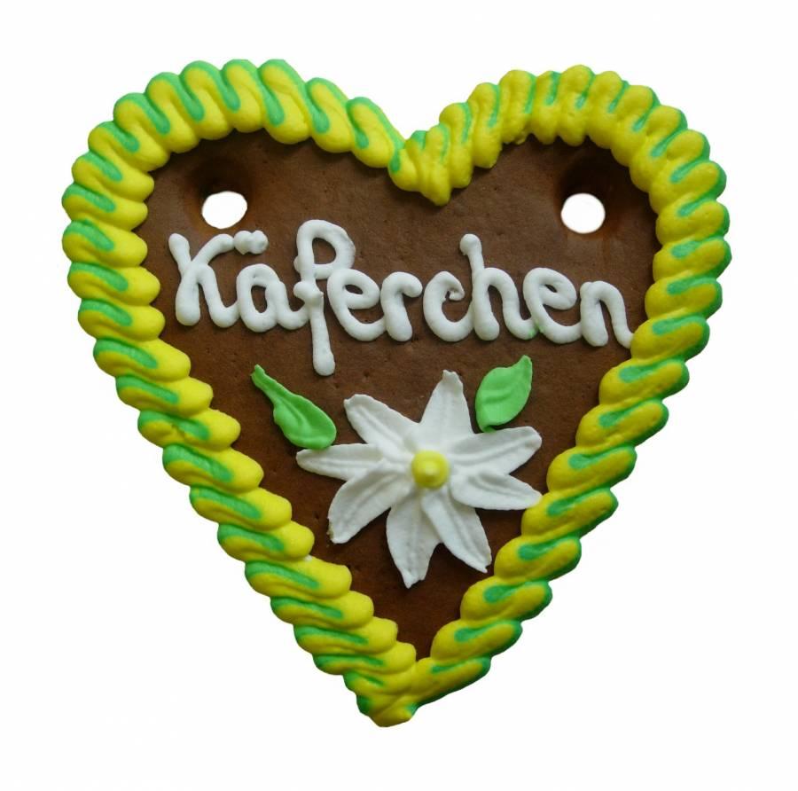 Lebkuchenherzen Spruch exklusiv, 20-fach sortiert 13 x 14 cm  im Karton, Lieferant
