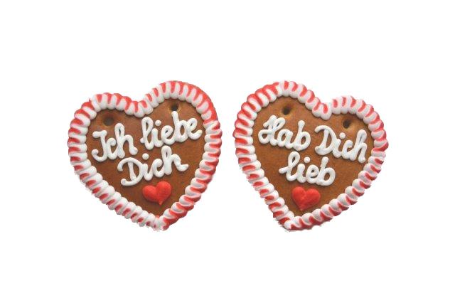 Lebkuchenherzen  Spruch Ich liebe Dich im Karton