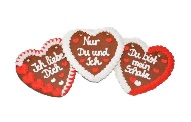 Wiesn Lebkuchenherzen Sprüche Liebe sortiert,im Karton,Lieferant