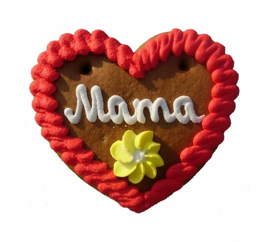 Lebkuchenherzen sortiert Mama, Papa, Oma, Opa 10 cm im Karton