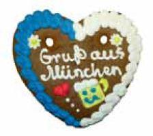 Oktoberfest Lebkuchenherzen Gruß aus München  Hersteller
