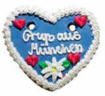 Oktoberfest Lebkuchenherzen Gruß aus München lasiert Hersteller