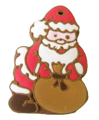 Lebkuchen Weihnachtsmann ,Nikolaus20 cm ,Karton 20 Stück