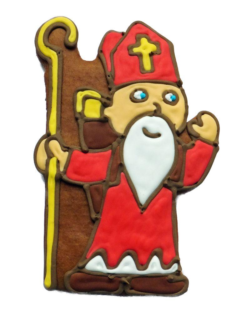 Lebkuchen Nikolaus 20 cm,Karton 20 Stück
