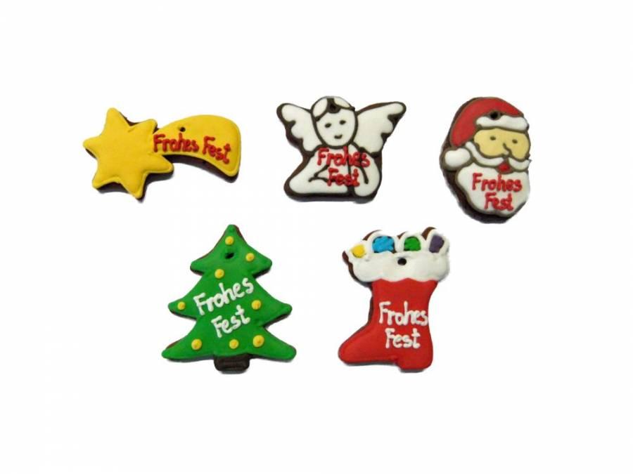 Lebkuchen Tannenbaum, Komet, Stiefel, Engel, Weihnachtsmann,Karton 50 Stück