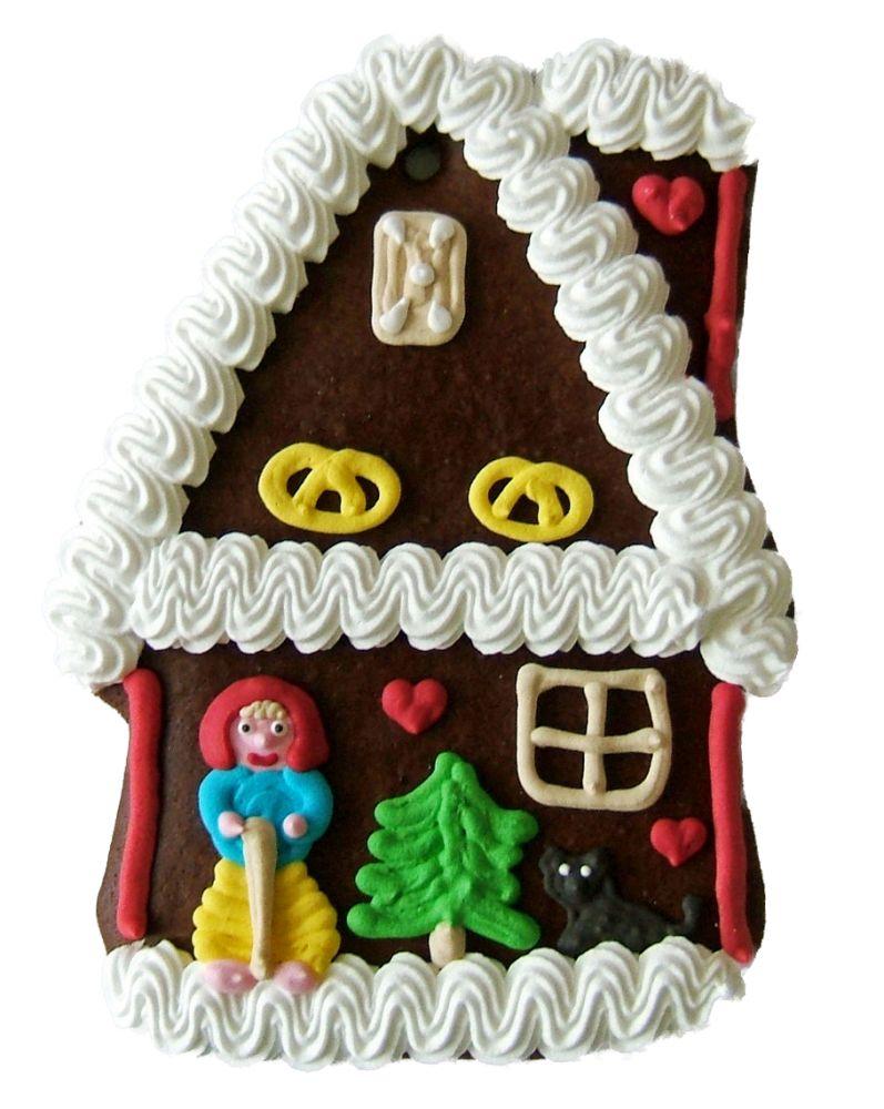 Lebkuchen Hexenhaus flach  ,Karton 20 Stück