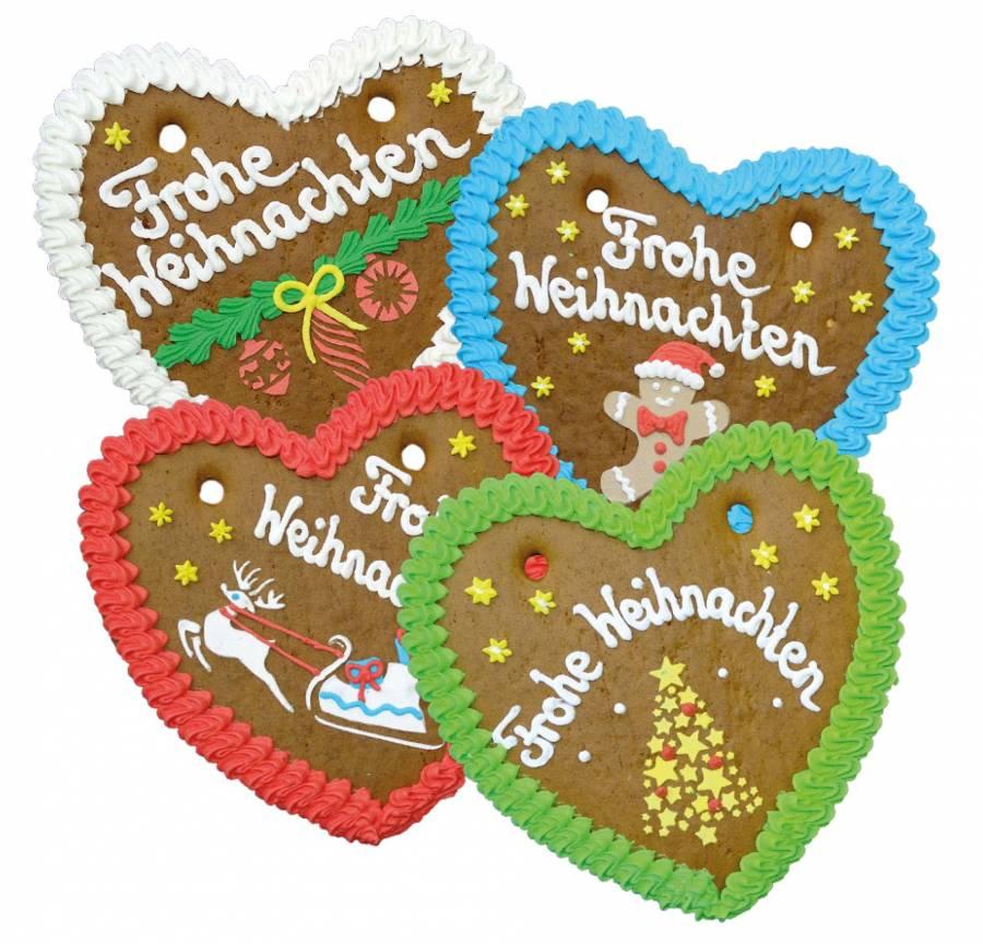 Lebkuchen Herz  mit Weihnachtsmann 24   cm