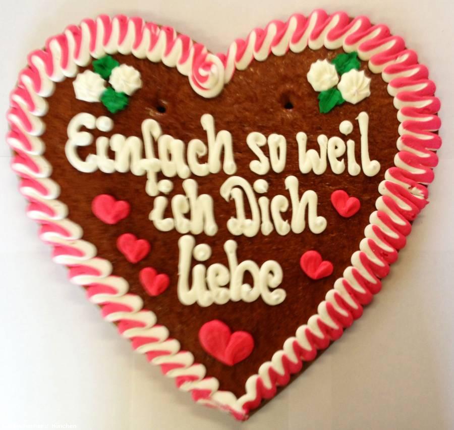 Lebkuchenherz XXL Einfach so weil ich Dich liebe