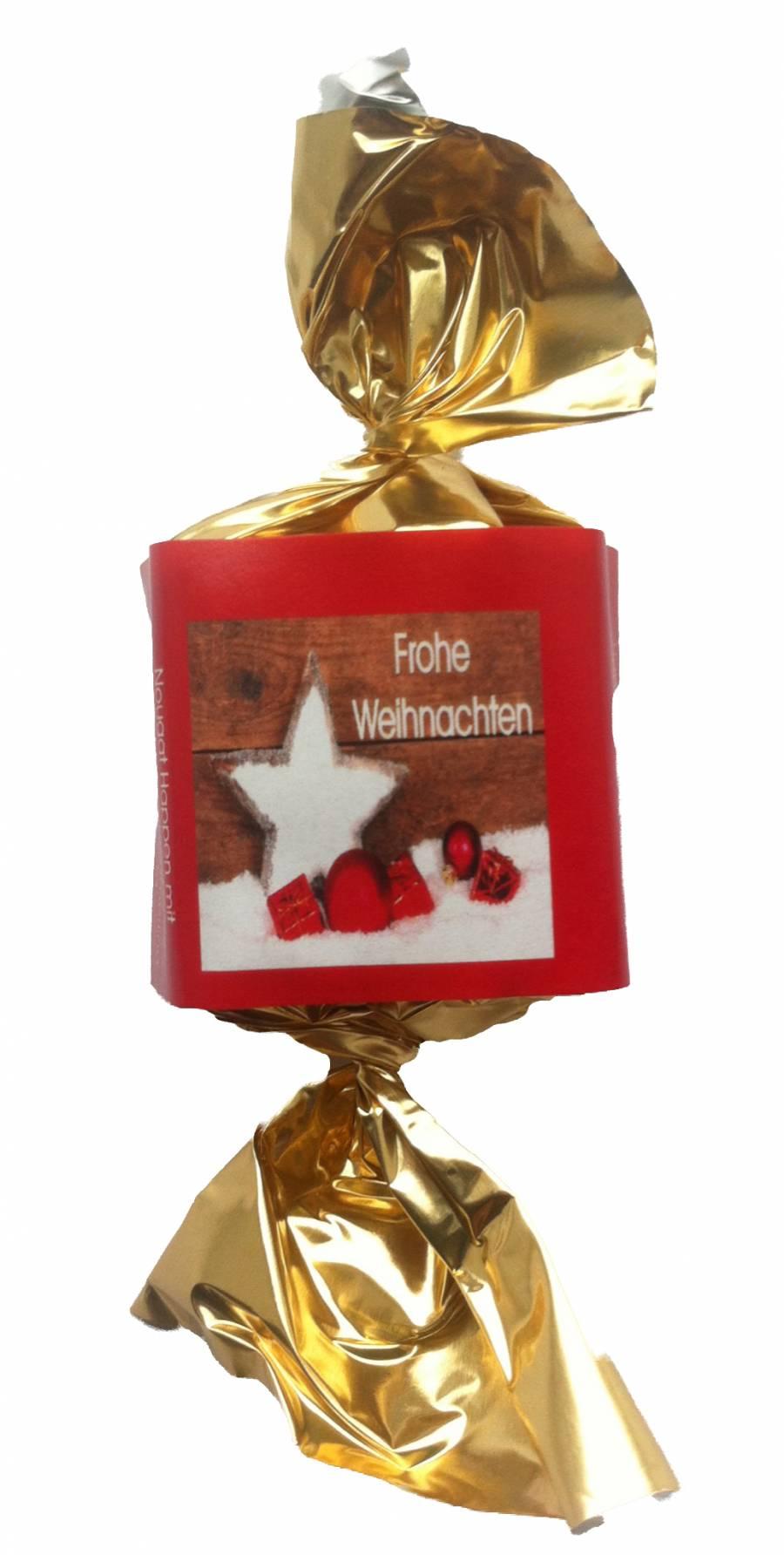 Bio Nougatbusserl ,VM Frohe Weihnachten, ,100 Stück