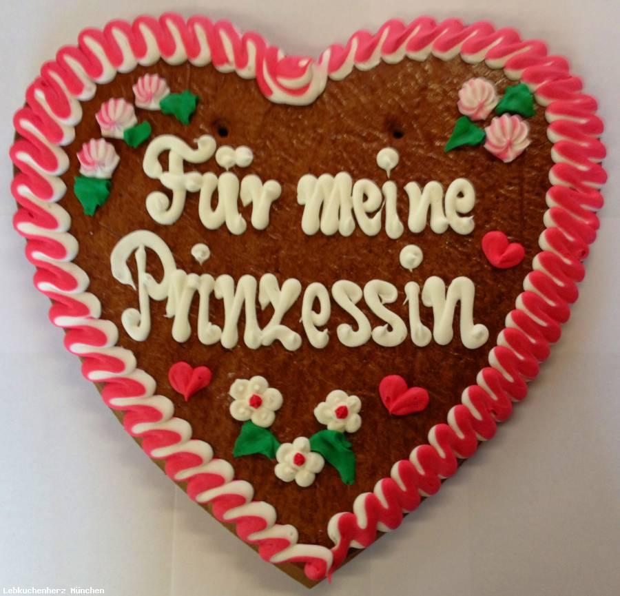 Lebkuchenherz Für meine Prinzessin