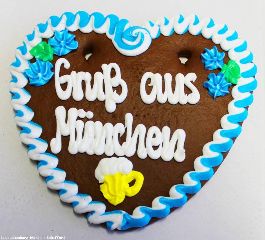 Lebkuchenherzen Spruch Gruß aus München, Dekoration , Catering