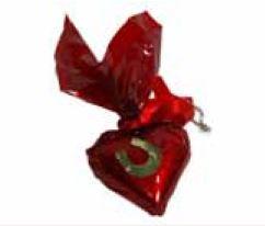 Schokoladenherz mit Anstecker 3 x 4 cm  ,50 Stück