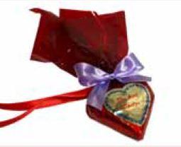 Schokoladenherzen mit Spruch 7 x 7  cm ,40 Stück