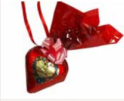 Schokoladenherzen mit Wunschtext 11 x 12  cm ,10 Stück