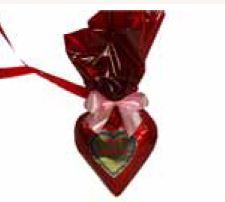 Schokoladenherzen mit Wunschtext 8 x 8  cm ,30 Stück