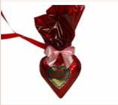Schokoladenherzen mit Wunschtext 9 x 10  cm ,20 Stück