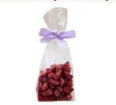 Gebrannte Mandeln mit Himbeer-Balsamico 100 Gramm im Polybeutel,